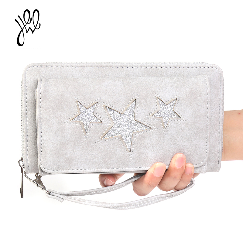 Large PU Leather Women Wallet Brand Big Purse Lady Cell Phone Card Holder Long Ladies Wallets And Purses Passport Bag 500641 ...