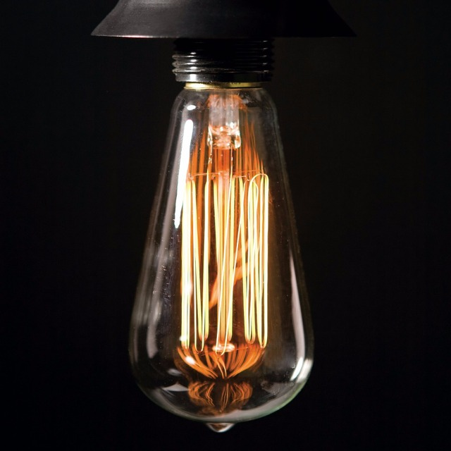 antique edison bulb st64 40w vintage light bulb e27 220v decorative light led filament bulb - Decorative Light Bulbs