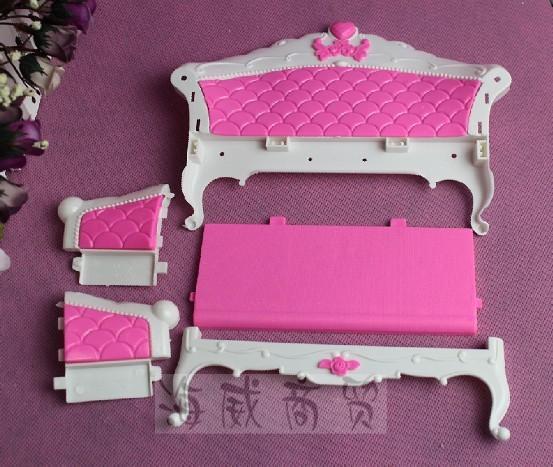 Hadiah kanak-kanak plastik sofa vintaj meja sofa sofa 6 item / Set - Anak patung dan aksesori - Foto 4