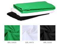 2X3 M PRO Photo Studio 100% Pure Muslin Collapsible Backdrop Background for Photography Video Television Black