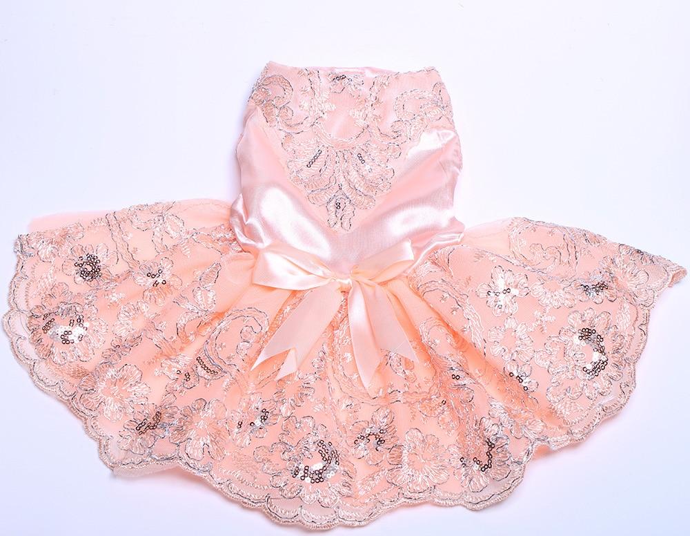 Hundkatt Bröllopsklänning Tutu Prinsesse Husdjurvalp Klänningar - Produkter för djur - Foto 4