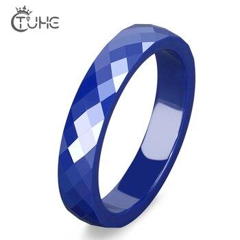 4mm 6 MM luz rosa azul mano anillo de cerámica para mujer de buena calidad de cerámica anillo dama joyas sin arañazos nunca roto
