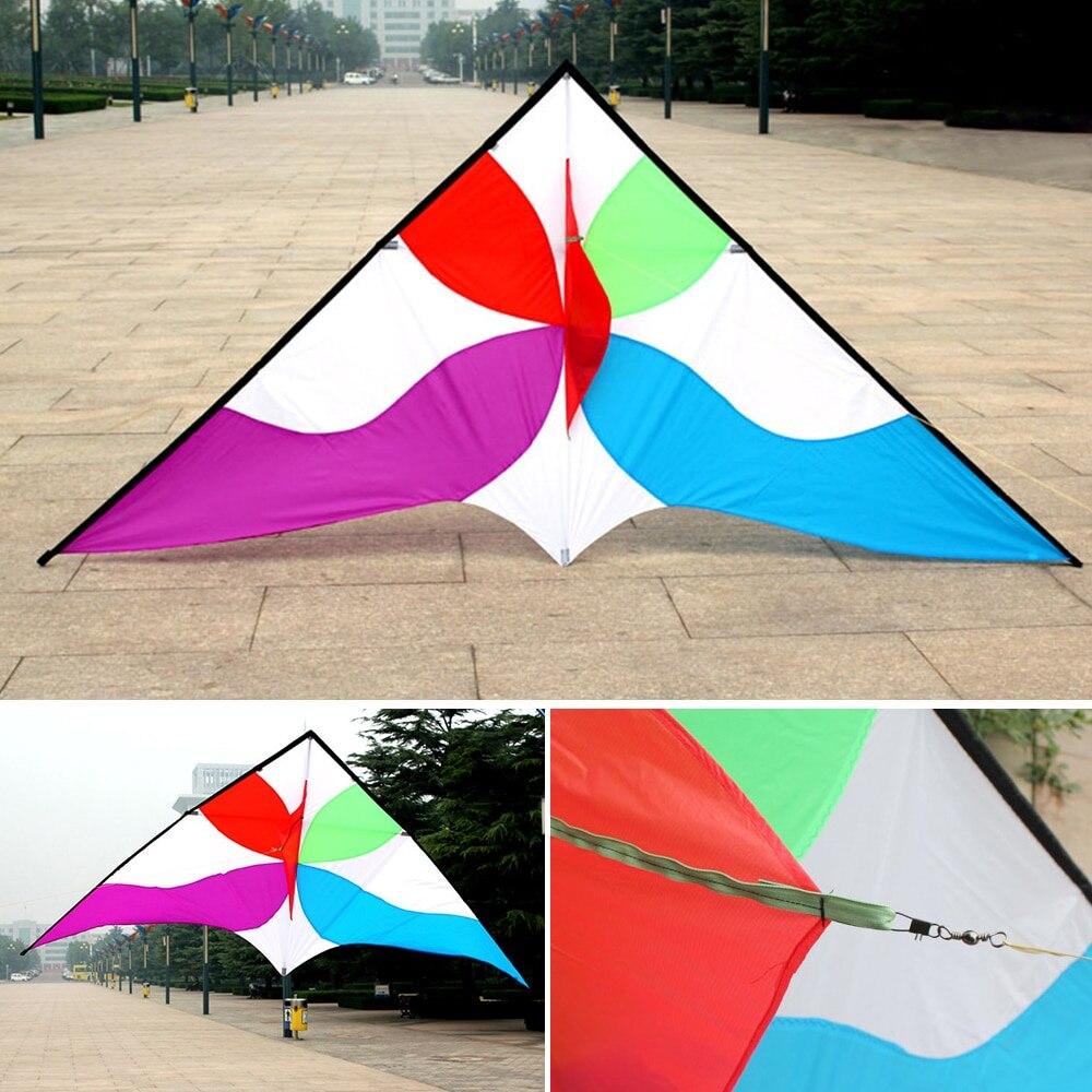 Cerf-volant volant en forme de Delta énorme coloré avec ligne volante de 30 m jardin de plage en plein air pour enfants adultes