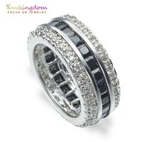 Yunkingdom Fine Rings For Women Black Zirconia Wedding Engagement Jewelry Rings M0377