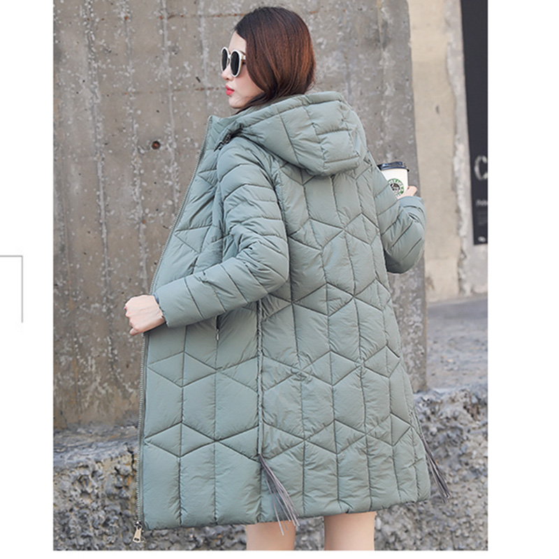 Winter Jacket Female   Parka   Coat Plus size 4XL Fashion Down Jacket Long Hoodie Down Thick Long Coat Jacket Women Clothing