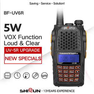 Image 1 - Baofeng UV 6R لاسلكي تخاطب 5 واط راديو UHF VHF ثنائي النطاق UV 6R CB راديو ترقية من UV 5R Baofeng تخاطب HF الإرسال والاستقبال للصيد
