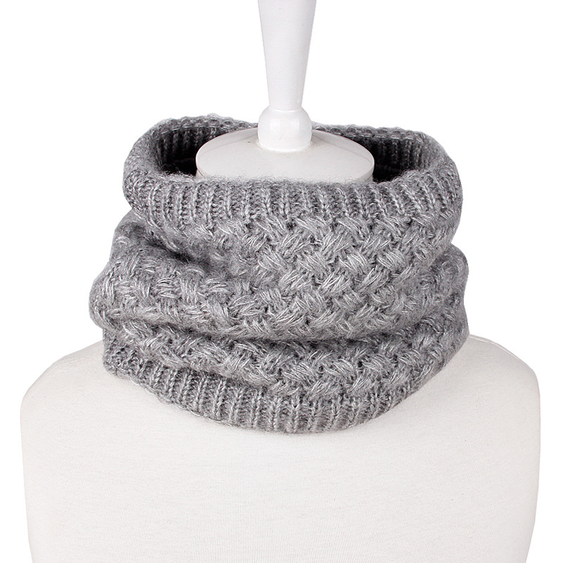 Women Man Winter Warmer Scarf Infinity Cable Knitted Neck Cowl Circle Collar Faux Fur Thick Loop Scarves AA10073