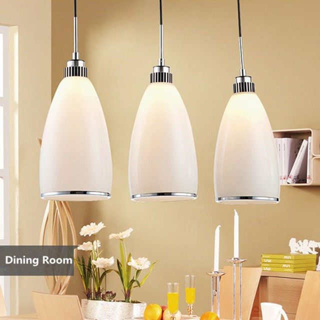 Free Shipping 3 Heads Pendant Lights Dining Room Lamps,pure Color,nice  Decoration,