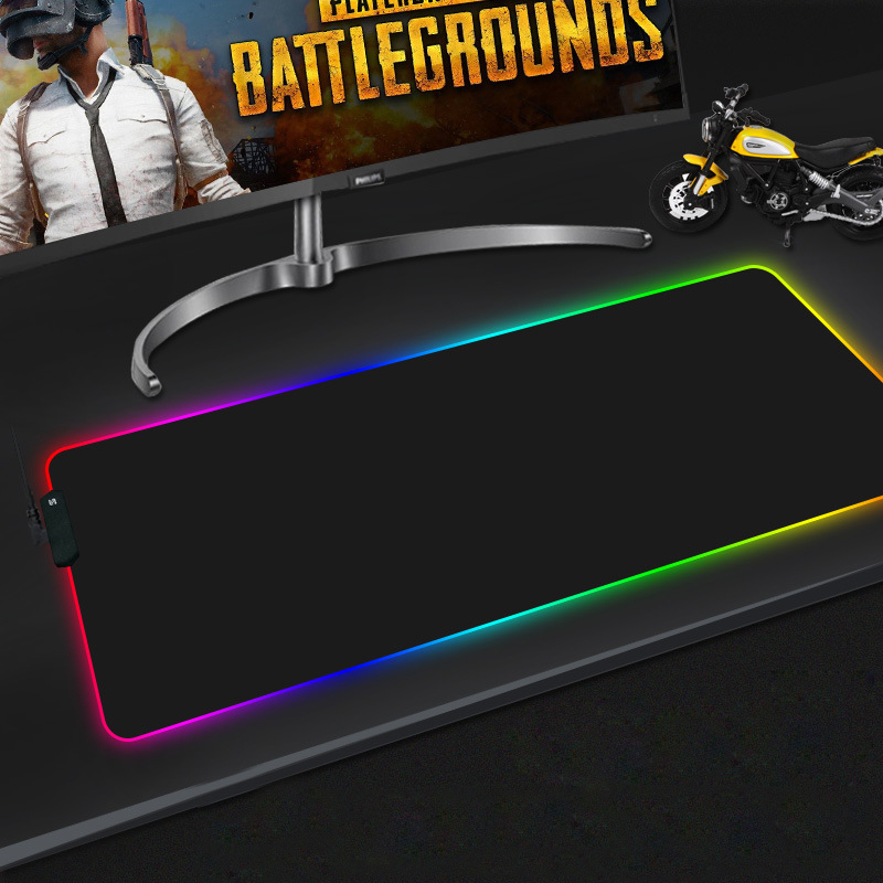HECULAS Gaming Mouse Pad RGB LED Lighting 7 Colorful Mousepad Mouse Mat 25x35cm 35x75cm in Mouse Pads from Computer Office