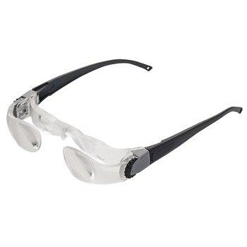 2.1X obiektywu lupa z pałąkiem na głowę okulary wzmacniacz odczytu ABS ramka 0-300 Dregee krótkowzroczność lupa