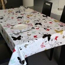 Pastoralen Stil PVC Tischdecke Wasserdicht Öl Beweis Floral Tischabdeckung für Hochzeitsfeier Restaurant Bankett Dekorationen