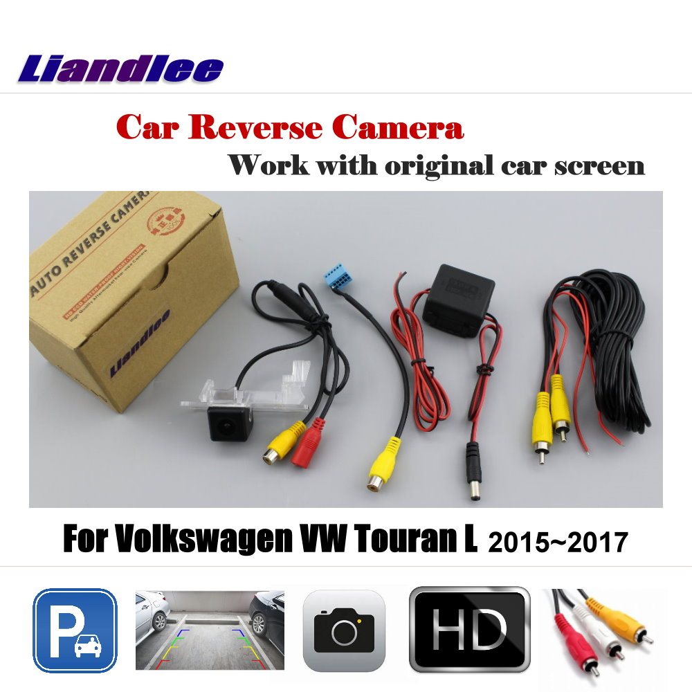 Liandlee Car Reverse Rearview Camera For Volkswagen VW Touran L 2015 2017 Original Screen HD CCD