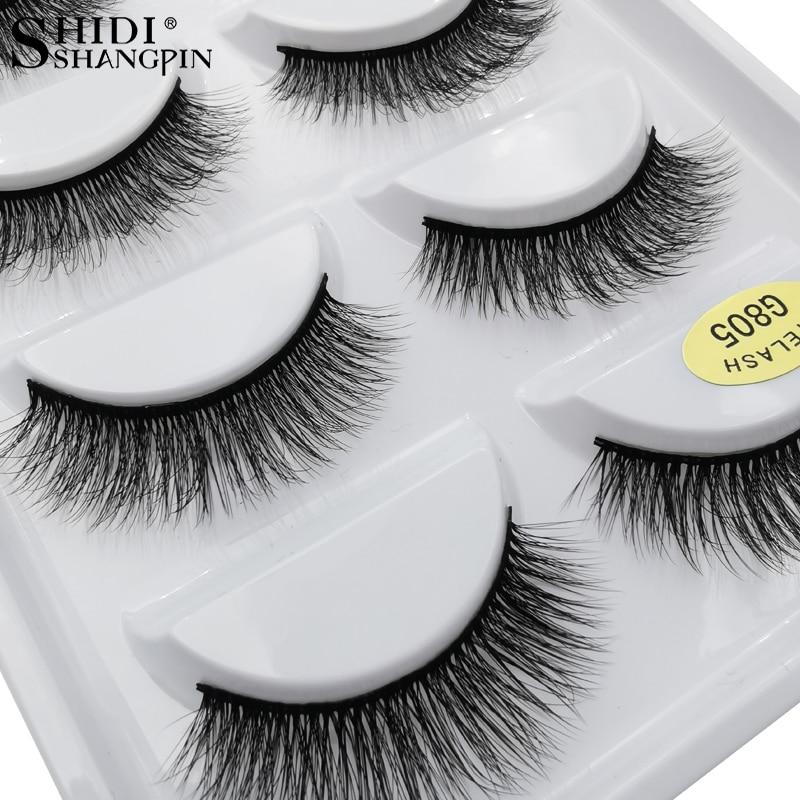 5 Pairs Mink Eyelashes Soft Makeup Lash Natural Long False Eyelash Dramatic Faux Eye Lashes For Make Up Cilios Mink Faux Cils