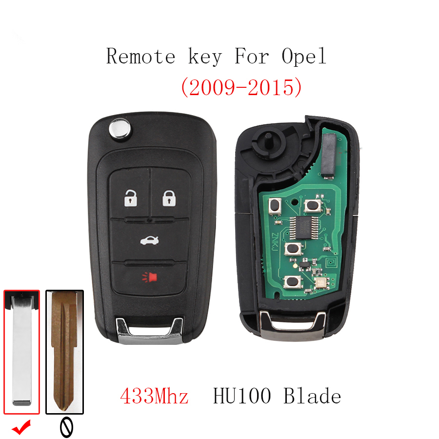 4BT Remote key For Opel Vauxhall Astra J Corsa E Insignia Zafira C 2009 2010 2011 2012 2013 2014 2015 2016 Original key 433Mhz