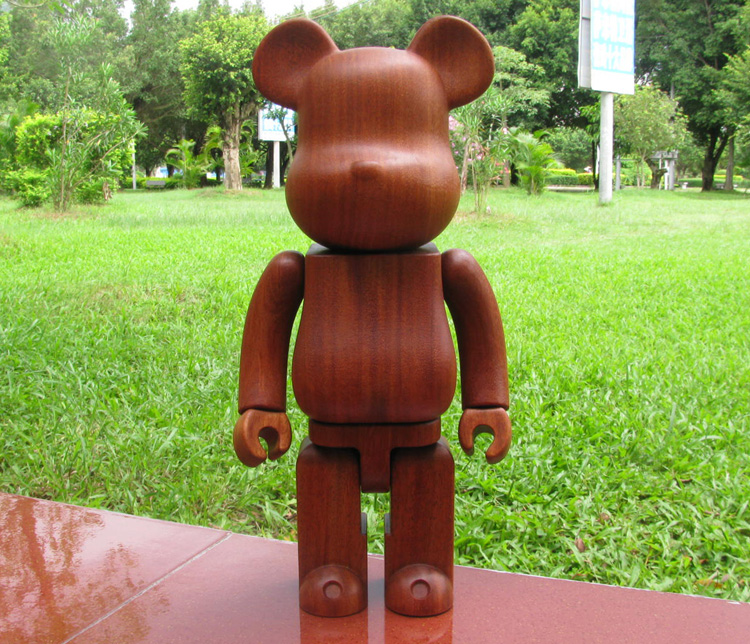 High Quality 100%(7cm)/ 200%(14.5cm) /400%(28cm) Wood Bearbrick Be@rbrick Made w/ Red Wood(QUALITY GUARANTEED!!) hot selling oversize 1000% bearbrick luxury lady ch be rbrick medicom toy 52cm zy503