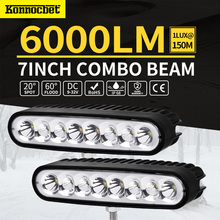 7inch 80W LED Work Driving Light Bar Spot Flood Combo Offroad 4wd Lamp Led 8000lLM Waterproof IP68 Car Accessories