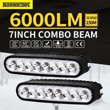 7inch 80W LED Work Driving Light Bar Spot Flood Combo Offroad 4wd Lamp Led Light Bar 8000lLM Waterproof IP68 Car Accessories цена в Москве и Питере