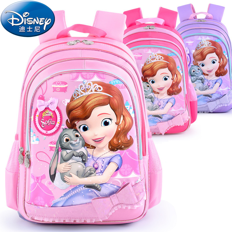 Disney 2018 Princess School Bags Protect the Spine Backpacks Fashion Schoolbag Kids Backpack School Bags for Girls Grade 1-3 дисней disney детский школьный портфель студентов мужского пола в младших классах 1 3 grade автомобили обременяет мешок плеча 1 grade 3 rb0085b navy