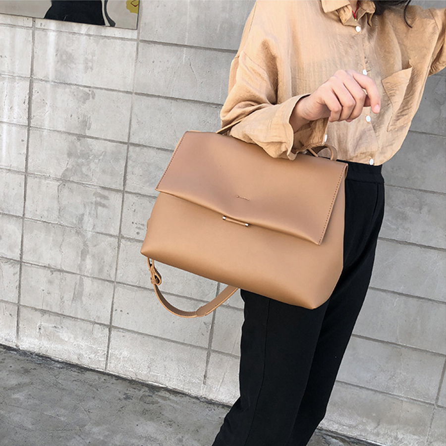 Causal Totes Bags Women Large Capacity Handbags Lady PU Shoulder Messenger Bag Female Retro Daily Elegant Shopping Handbag Bolsa(China)