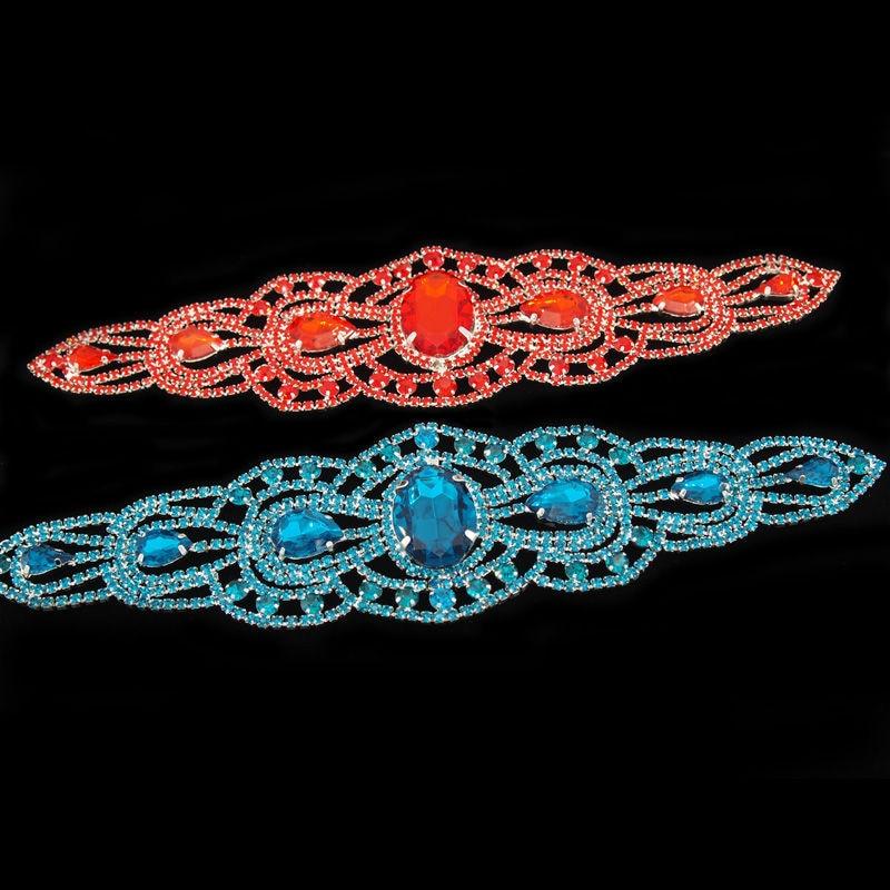 Nähen auf Kristallglas Strass Patches Gürtel Red Stone Trimmen - Kunst, Handwerk und Nähen - Foto 3