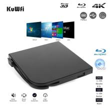лучшая цена External 4K 3D Blu-ray DVD Drive Portable USB3.0 Type-C Blu-ray Burner HD CD/DVD Player Writer Plug and Play for PC/MAC Desktop