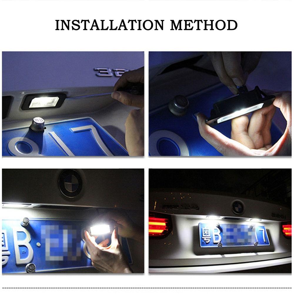 24LED Bright White License Plate Light Lamp for BMW E81 E82 E90 E91 24 Leds Trunk Lamp for BMW E92 E93 X1 E84 X5 E70 X6 E71