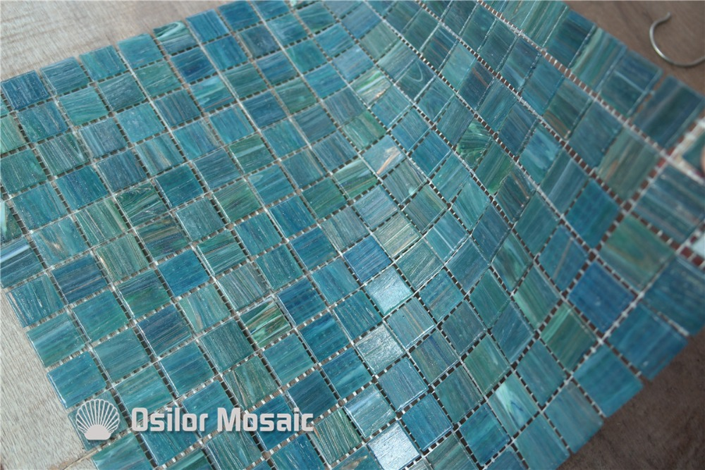 free shipping green glass mosaic tile for bathroom and kitchen wall tile swimming pool tile 4 28 square meters lot