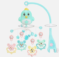 Animal Musical Crib Mobile Hanging Rattles Newborn Early Learning Baby Crib Toy 0 12 Months For Newborn