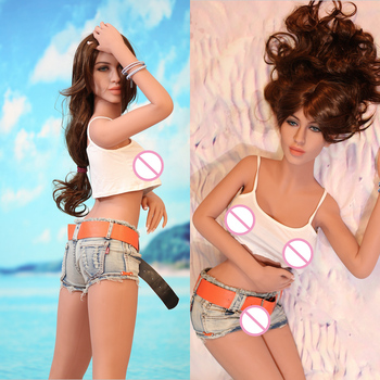 TPE Silicone Sex Doll for Men 158cm Full Body Real Big Breast Japanese love doll with Skeleton realistic Vagina Pussy Sex toys