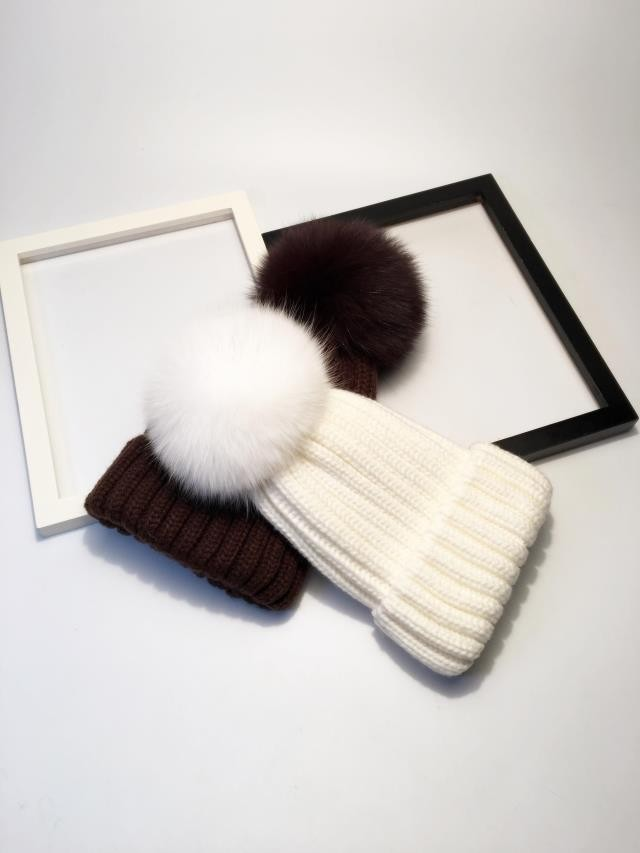 pompom hat fur hat winter hats for women knitted hat winter beanie hat women hat (7)
