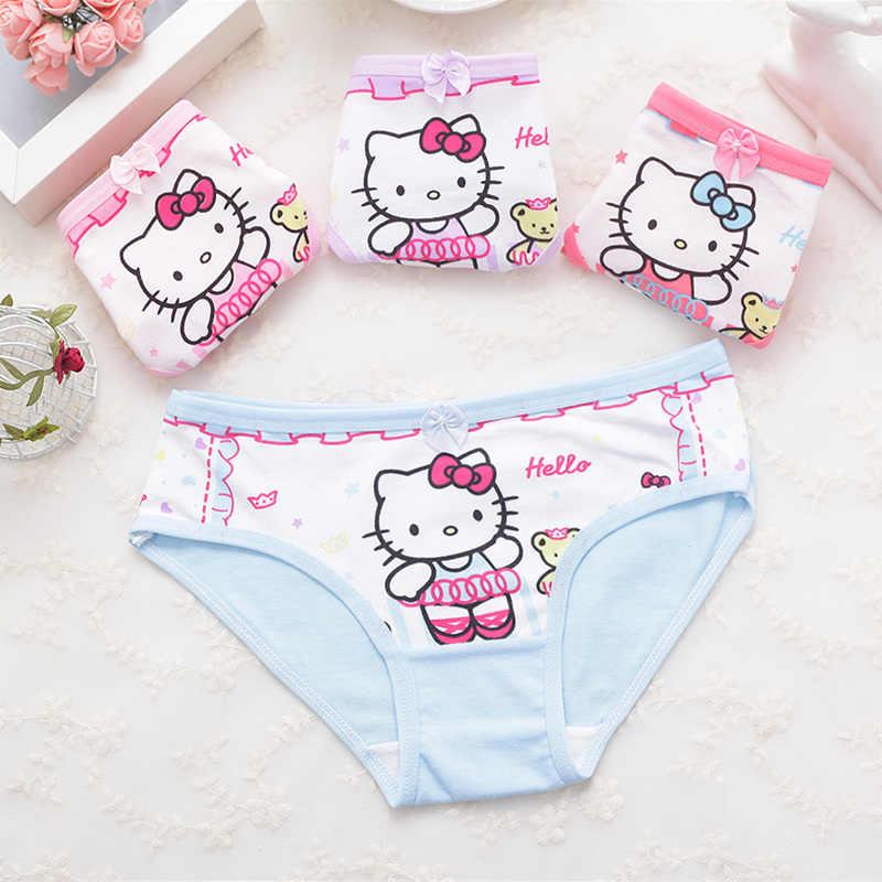 1 قطع القطن الاطفال سراويل الطفل الفتيات لطيف الملابس الداخلية الأطفال اليومي قصيرة ملخصات الفتيات الكرتون السراويل السروال 2-11 طن