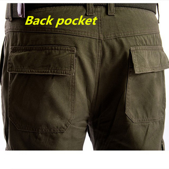 Men's Cargo Pants Millitary Clothing Tactical Pants Outdoor Camo Workwear causal Multi-Pockets Loose Full Length Trousers 4