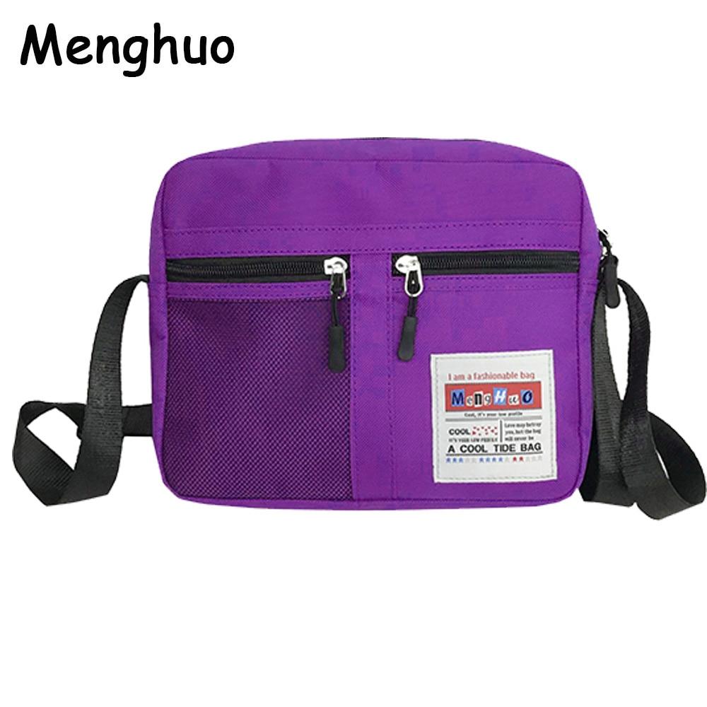 Menghuo 2018 Hot Sell High Quality Fashion Women Waterproof Nylon Messenger Bags Female Crossbody Shoulder Bags Ladies Handbags messenger bag