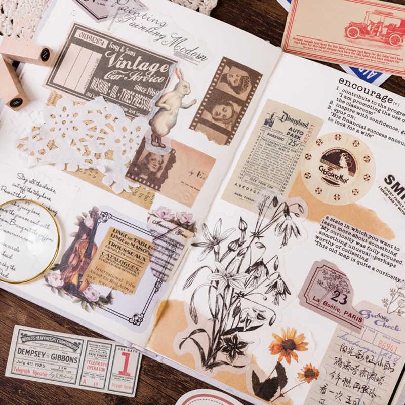 60 шт./кор. креативные винтажные записываемые бумажные наклейки украшения DIY альбом дневник Scrapbooking этикетка канцелярские наклейки HT020