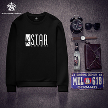 The Flash Sweatshirt Superman Series O-neck Men Hoodies STAR S.T.A.R.Labs Detective Comics Black White Male Clothing Men Tops