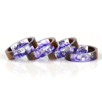 Bague en bois violette