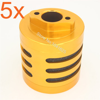 5pcs Lot Alloy Aluminum Air Filter With Sponge For Gas Power RC 1 5 Scale HPI