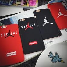 Moda marca flyman michael jordan fundas coque para iphone 5 5s 6 6 S Plus 4.7 5.5 polegada Mate Rígido de Volta Cobre Casos de Telefone Caso