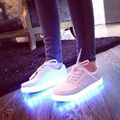 2016 New 7 Colors Luminous Led Light Shoe Men Fashion USB Rechargeable Light Led Shoes For Adults Casual Shoes Size 35-46