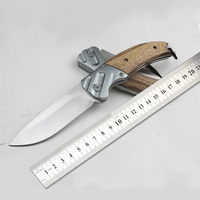 Outdoor folding knife a sharp knife camping knife defense tools The wooden handle Exquisite gift