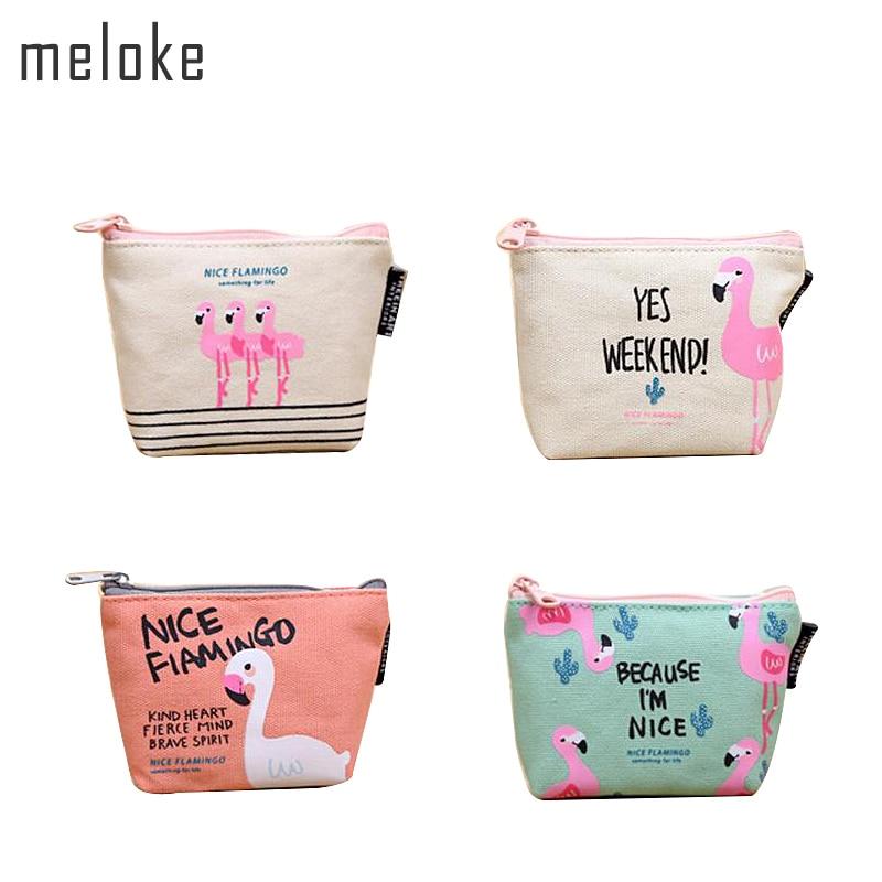 Meloke 2019 hot sales flamingo portemonnee gedrukt mini clutch - Portemonnees en portefeuilles