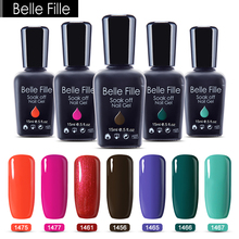 Belle Fille Gel Nail Polish Deep Green För Vinter Och Vår UV Soak Off Nails Manicurement Lack Design Art Nail Gel Polish