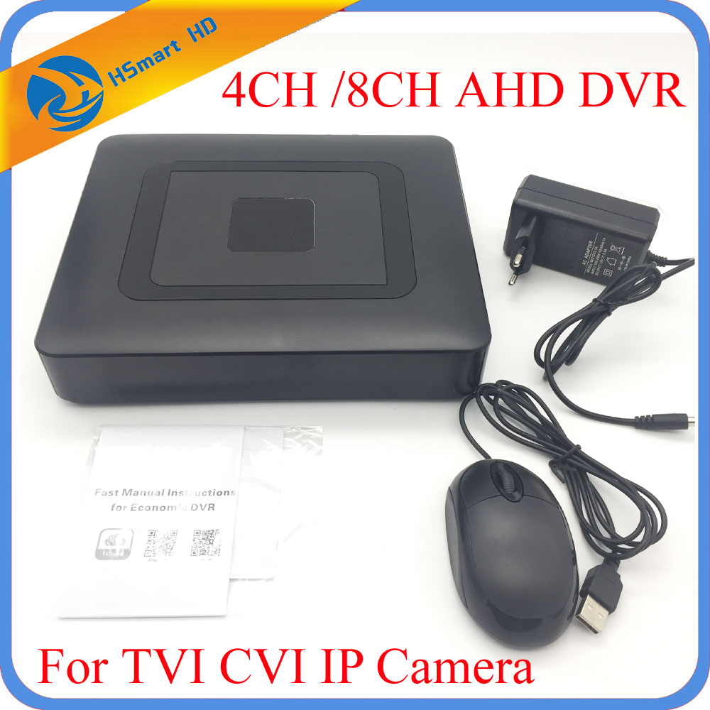 Hot MIni HD 4CH H.264 8CH AHD DVR Hybrid 5 in 1 DVR For 1080P TVI CVI / AHD / IP Camera XMEYE P2P Onvif CCTV DVR Systems