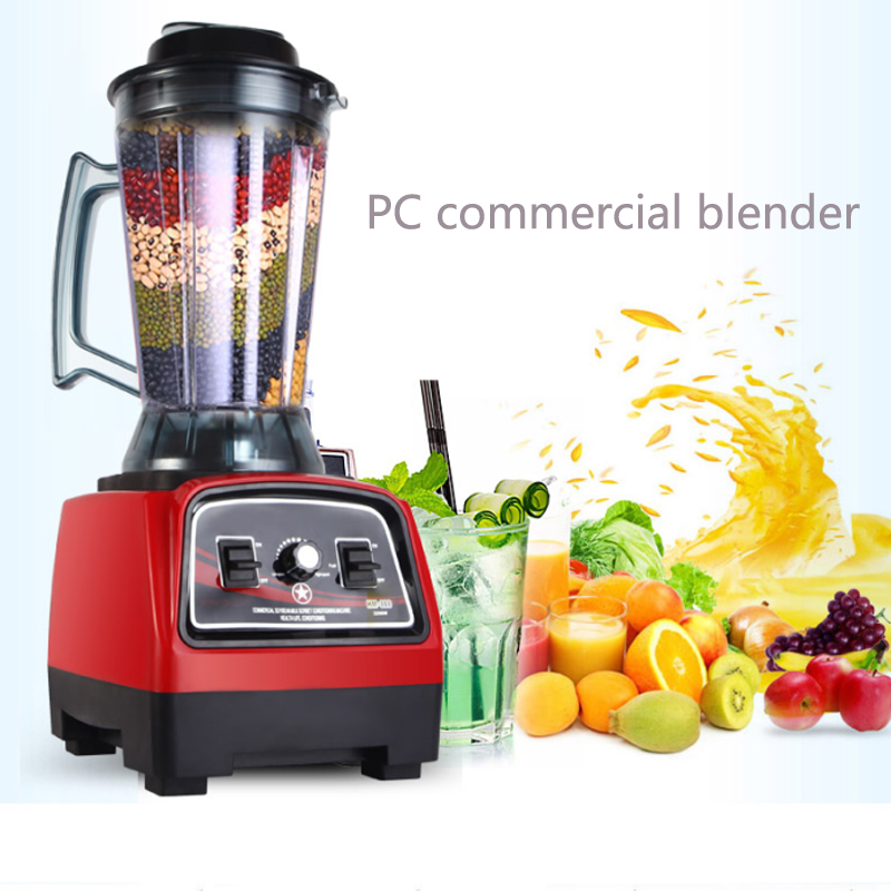 Commercial 2L safe food PC materials electric blender mixer juicer food blender Commercial Blender bpa 3 speed heavy duty commercial grade juicer fruit blender mixer 2200w 2l professional smoothies food mixer fruit processor