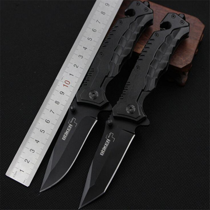 Creative multi 56HRC Folding Blade font b Knife b font CS GO Outdoor Survival Camping 440