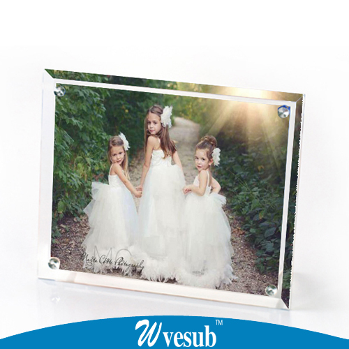 Free Shipping Crystal Photo Frame Customized Photo Print DIY ...