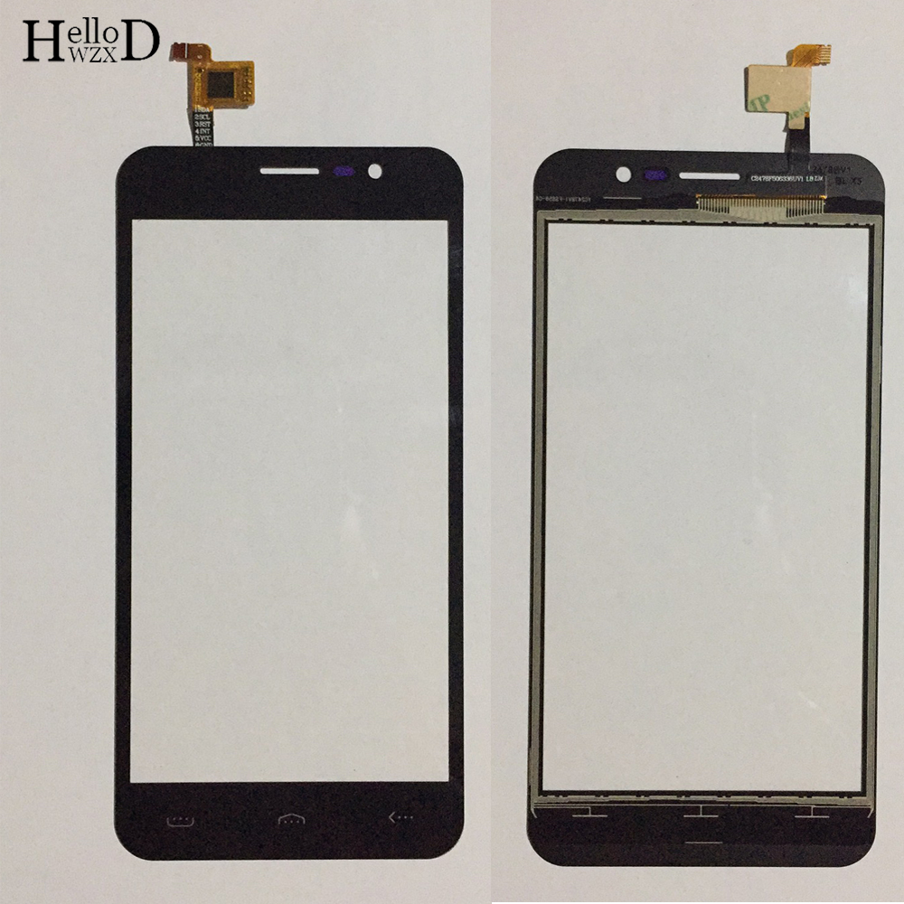 Mobile TouchScreen Touch Screen For Homtom S12 Touch Screen Digitizer Sensor Front Glass Touch Panel Sensor 3M Glue