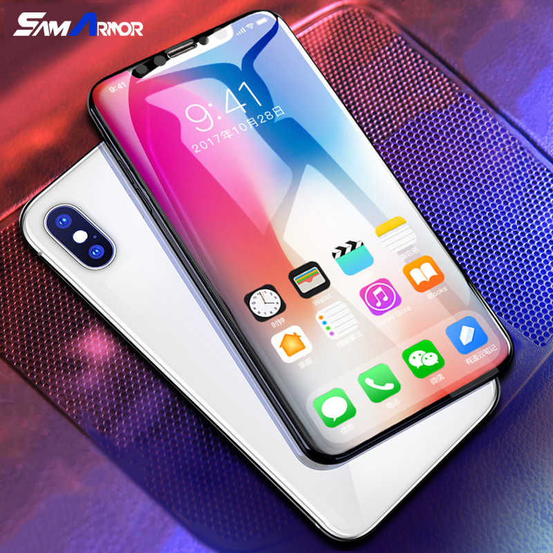 Aluminum alloy Tempered glass Coque For iphone X 8 5 5S SE 5C 6 6S 7 Plus Full Coverage Cover Fundas for iPhone 7 plus Case