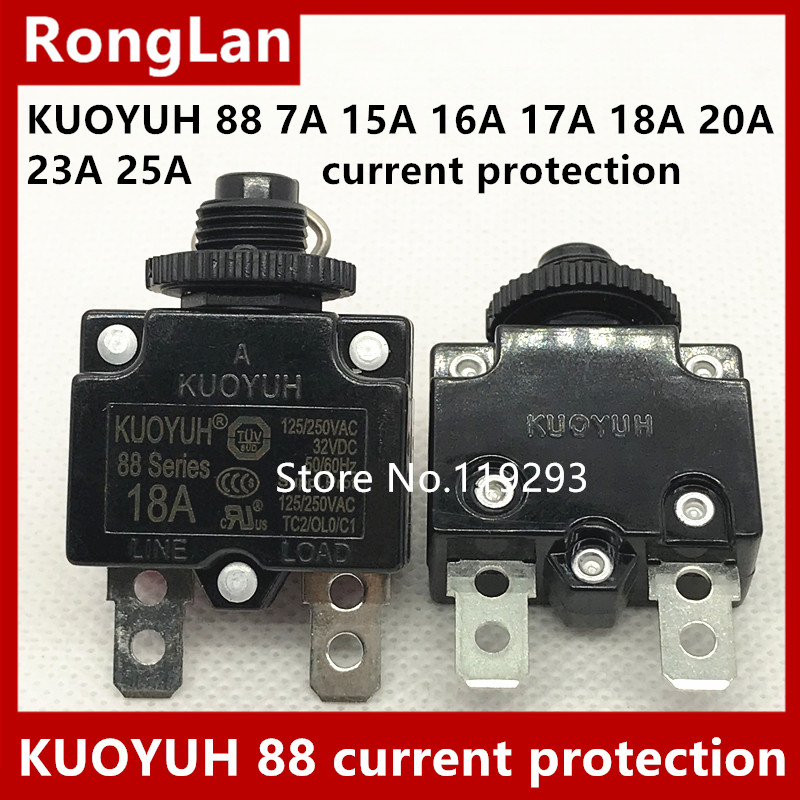 BELLA KUOYUH 88 Series Electric overload current protection device imported Taiwan 7A 15A 16A 17A