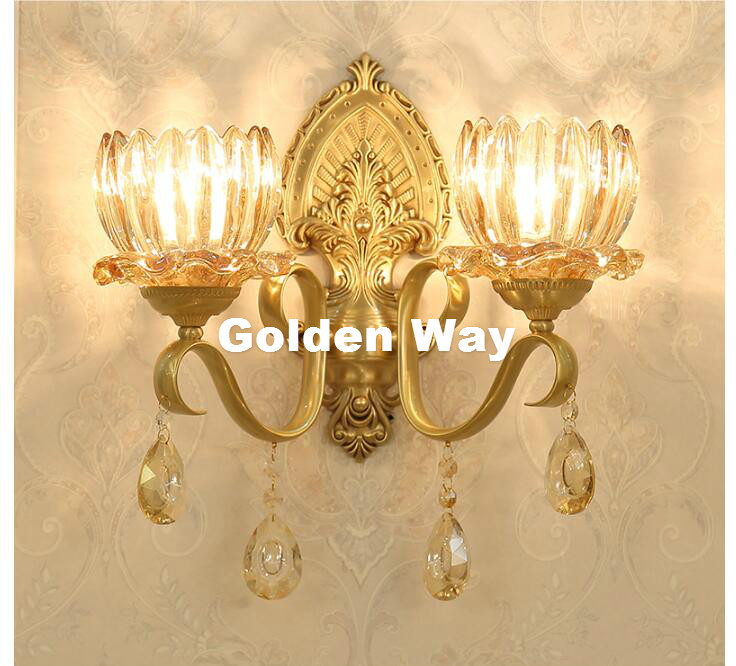 New Arrival European Classical Luxury Bronze Copper E14 Art Indoor Wall Lamp for Bedroom aisle Living room Corridor Bedroom Lamp new arrival 3 4persons one bedroom